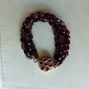 Jewelry - Sterling and Amethyst beaded bracelet